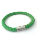 Brighton Woodstock Kelly Green Leather Bracelet, Size S, New - $37.99