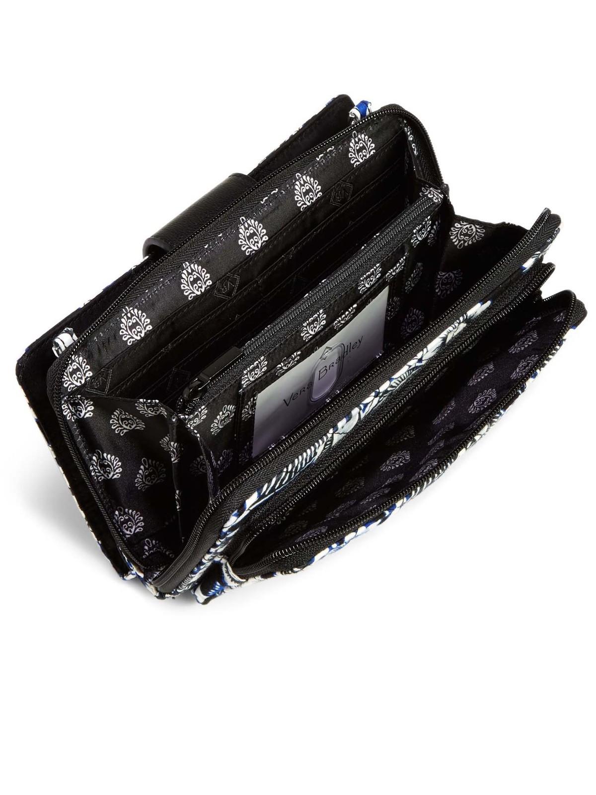 Vera Bradley Iconic Deluxe All Together Crossbody Bag, Snow Lotus