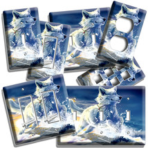 WHITE WOLF WINTER SNOW SUNSET LIGHT SWITCH OUTLET WALL PLATE COVER ROOM ... - $10.99+