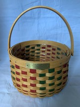 Longaberger Christmas Collection 2003 Caroling Basket with Plastic Protector - $23.36