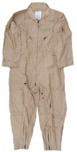 Military Outdoor Clothing Previously Issued CWU-27//P Sage Nomex Flight Suits 38S