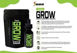 GROW Maximum XXL Beard Growth & Mustache Accelerator - #1 Formula Serum Oil Worl image 9
