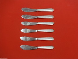 """William and Mary by Lunt Sterling Silver Trout Knife Set 6pc HHWS  Custom 7 1/2"""" - $366.80"""