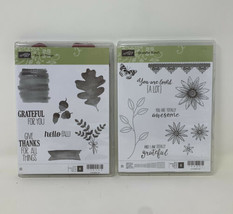Stampin Up Grateful Bunch Photopolymer Stamp Set & For All Things Fall A... - $49.49