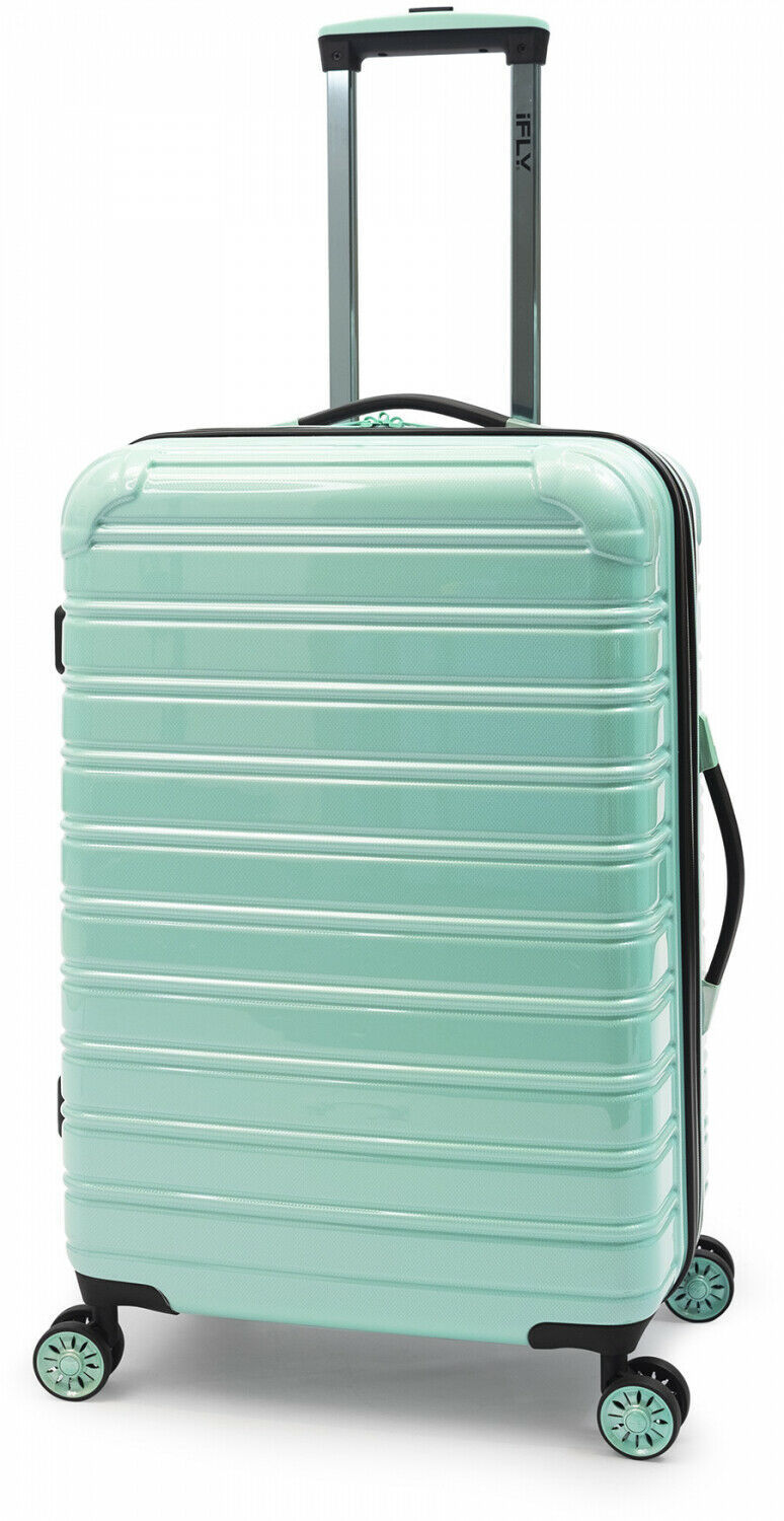 "Primary image for Hardside Spinner Suitcase Rolling Luggage 24"" Travel Mint Green Hard Side Wheels"