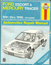 HAYNES AUTO MANUAL FOR 1991 - 1996 FORD ESCORT TRACER - $15.83