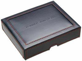 Tommy Hilfiger Men's Premium Leather Double Billfold Passcase Rfid Wallet Navy image 12