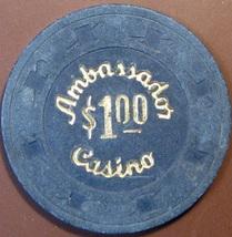 $1 Casino Chip. Ambassador, Las Vegas, NV. V06. - $5.50