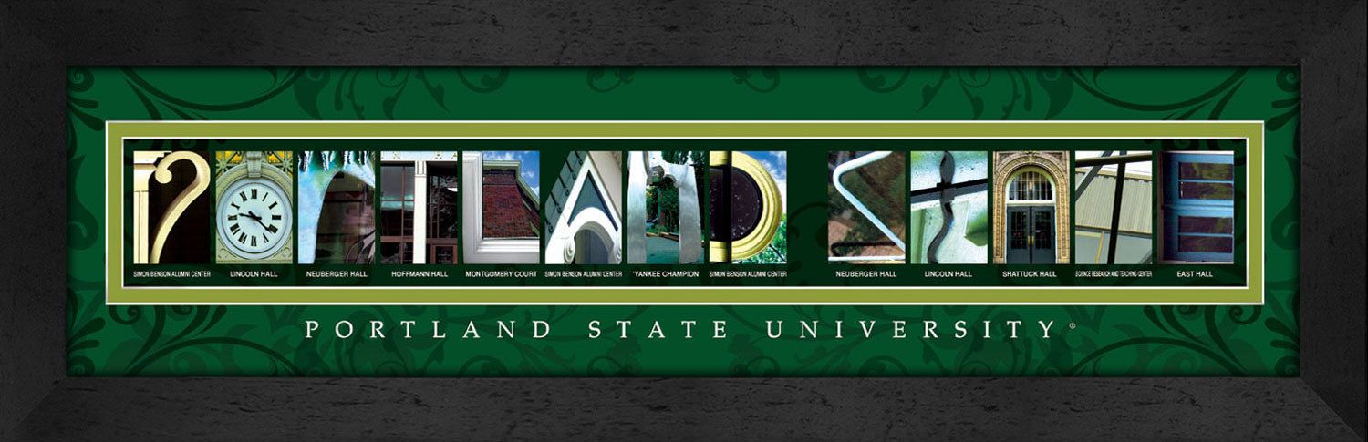 Primary image for Portland State University Officially Licensed Framed Campus Letter Art