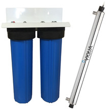 Big blue UV whole house combo filter system high flow - $674.23