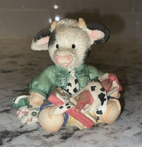 "1995 Enesco Mary's Moo Moos ""Good Moos Another Tie"" Collectible DAD Cow Figure - $7.76"