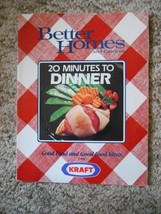 Old Vintage 1987 Recipes Cookbook Better Homes and Gardens 20 Minutes to... - $9.99