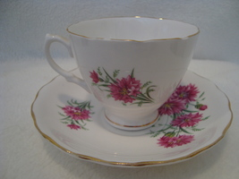 Royal Vale by Ridgway China pink cornflower porcelain cup & saucer - $15.00