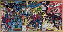WEB OF SPIDER-MAN lot (3) issues #41 #43 #44 (1988) Marvel Comics VG+/FINE- - $9.89