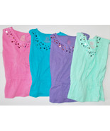 Faded Glory Girls Circle Top with Paillettes Si... - $7.99