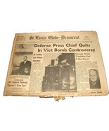1967 Jan 6 St. Louis Globe-Democrat Newspaper Vietnam Bombing Halt Sid S... - $13.99
