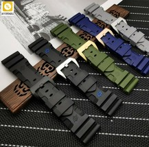 Rubber Watch Band Waterproof Replace For Panerai Strap Watch Band 24mm 26mm - $23.67+