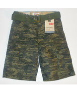 Levi's Boys Camouflage Belted Cargo Shorts Sizes 4, 6, 7 and 7X NWT - $19.99