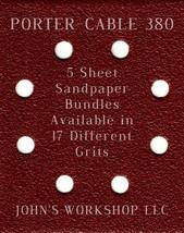 PORTER-CABLE 380 - 1/4 Sheet - 17 Grits - No-Slip - 5 Sandpaper Bulk Bundles - $7.14