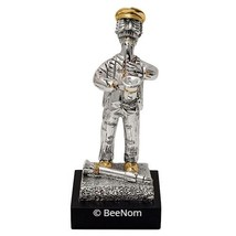 "Jewish Hassidic Figurine Musician with Sax silver plated 925 6,3"" - $29.70"