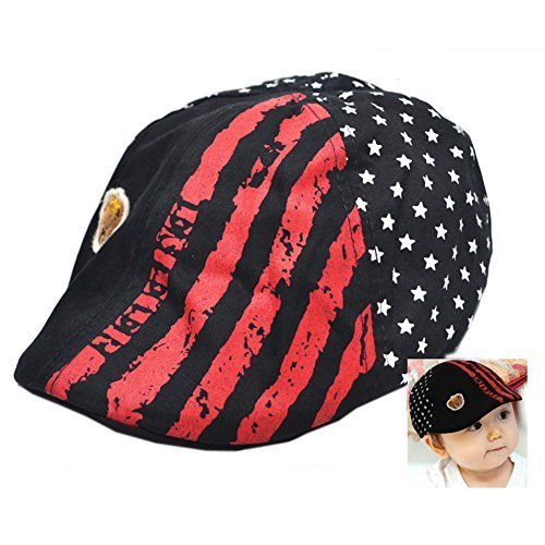 Cool Baby Black Beret Toddler Sun Protection Hat Baseball Cap For 1-3Y