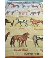 Goodwin Weavers Throw Blanket Tapestry Horses Western - $41.14