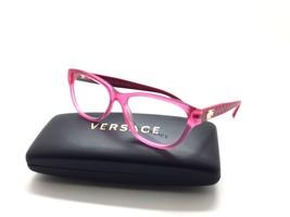 4844ddfab88 Versace Mod3204 Pink Matte 5121 Plastic Eyeglasses Frame 53-15-140 Italy Rx  -