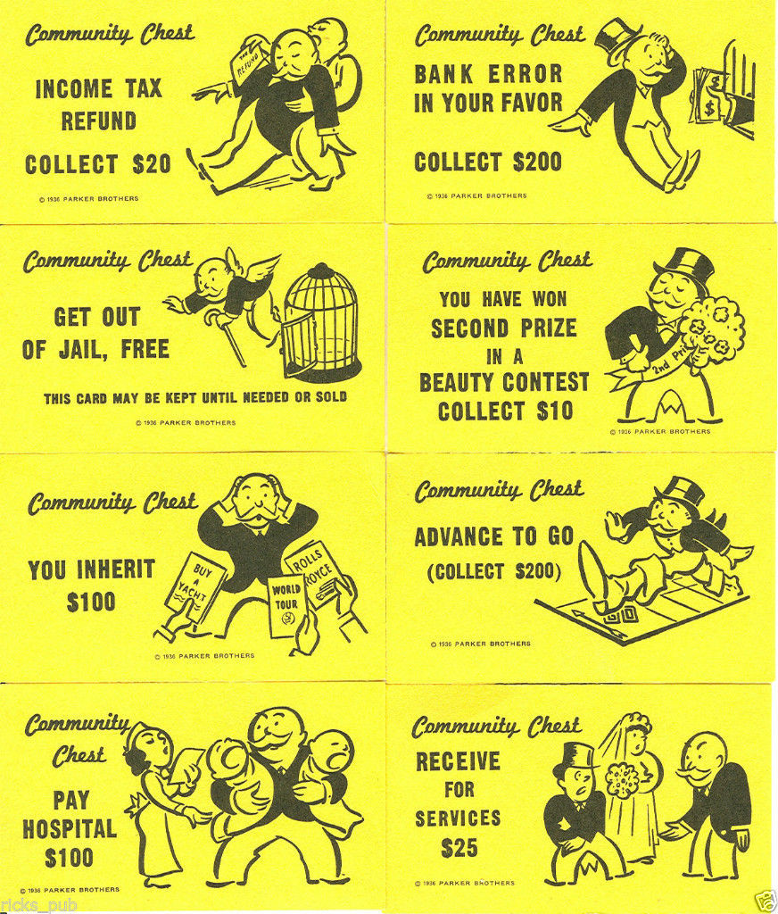 FULL SET of Monopoly CARDS ○ Deeds, Chance & and 21 similar items Within Chance Card Template