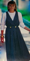 Butterick Pattern #6447 See & Sew Easy Mock Wrap Jumper & Top Misses 12-14-16 - $4.95