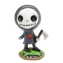 "Grim Reaper Boogily Heads SkullGnome Figurine Resin Grey 5"" H - $29.70"
