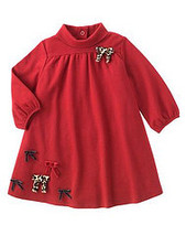 Glamour Kitty Gymboree NWT Red Knit Bow Tneck Dress 2T  - $11.50