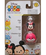 Disney Tsum Tsum 3 Pack Series 1 Olaf 176 Minnie 105 Cheshire Cat 142 St... - $8.00