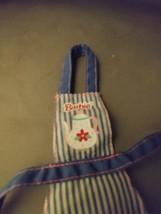 Barbie Doll Clothes Teapot Apron Kitchen Cooking Baking Accessory Blue W... - $8.00