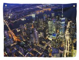 City Downtown Manhattan New York, 36x26 Wall Tapestry w/ Grommets - $707,53 MXN