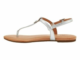 UGG Madeena Silver Metallic Women's Leather T-Strap Sandals 1118516 - $67.00