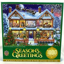 MasterPieces Christmas Seasons Greetings 1000 piece Puzzle Home for the ... - $32.86
