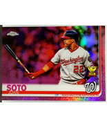 PINK REFRACTOR! JUAN SOTO ROOKIE TROPHY 2019 TOPPS CHROME #155 NATIONALS - $369.95