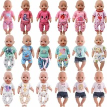 Doll Clothes Cute Animal Pajama Dress For 18 Inch Girl Toy 43 CM Baby Ac... - $7.99+