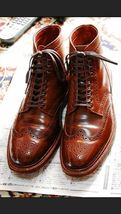 Men's ankle leather boots, Men brown Wing tip brogue boot Men ankle boots - $179.99