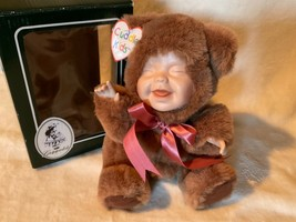 2000 Geppeddo Cuddle Kids Buster Bear Porcelain Face &Hands Plush Doll - $52.41