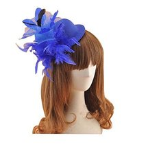 Beautiful Charming Feather Hairpin for Parties/Stage/Wedding,Hat,Blue