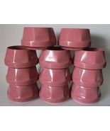 Dinex Stackable Bowls Set of 11 PINK Mauve Dusty Rose Salmon Camping Kid... - $29.98
