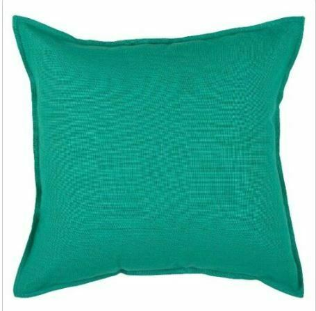 "Solid Throw Pillow - Turquoise - 20"" x 20"" - Rizzy Home - NEW  ((WHOLE PILLOW"