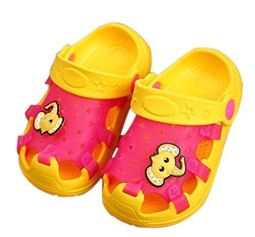 Kids Sandals In/Outdoor Toddler Clogs Shoes/Red Elephant 16CM Length