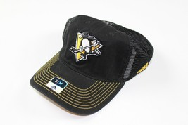 New Adidas Size S/M Pittsburgh Penguins NHL Hockey Flex Fitted Mesh Hat ... - $19.75