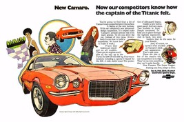 1970 Chevrolet Camaro ad | 24 x 36 INCH POSTER | sports car - $18.99