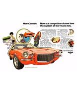1970 Chevrolet Camaro ad   24 x 36 INCH POSTER   sports car - $18.99