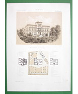 ARCHITECTURE PRINT : Germany Apartment Building at Gotha View & Plans - $22.95