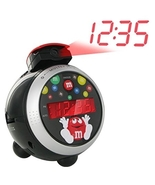 Mars Red M&M Candy Projection Digital Clock Radio - NEW - $99.99
