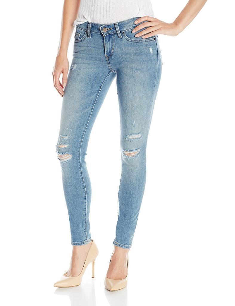 Levi's 711 Women's Premium Skinny Ripped Distressed Denim Jeans 188810073